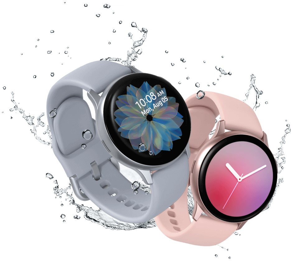 две пары Galaxy Watch Active2