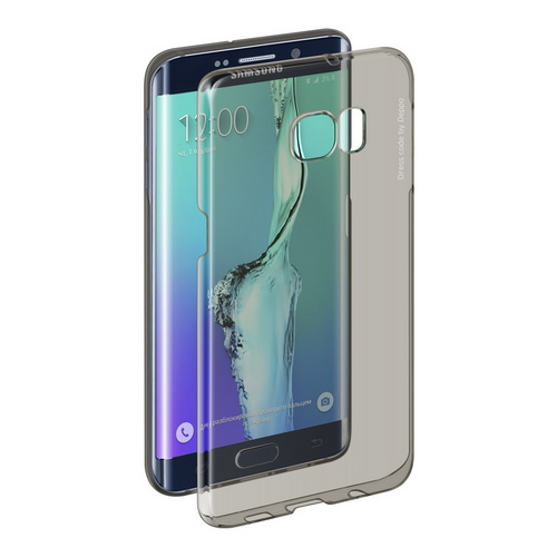 Чехол Deppa Pure Case серый, для Galaxy S6 Edge+