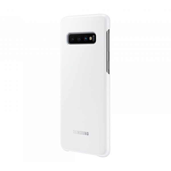 Чехол Samsung LED Cover для Galaxy S10 белый, пластик фото