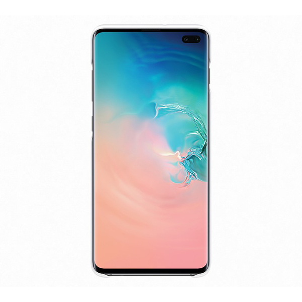 Чехол Samsung LED Cover белый, для Galaxy S10+