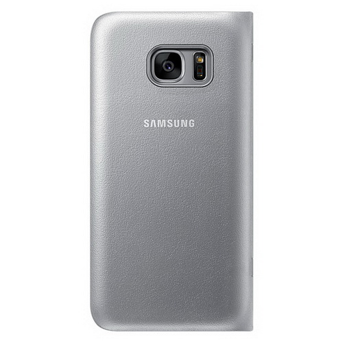 Чехол-книжка Samsung LED View Cover серебристый, для Galaxy S7