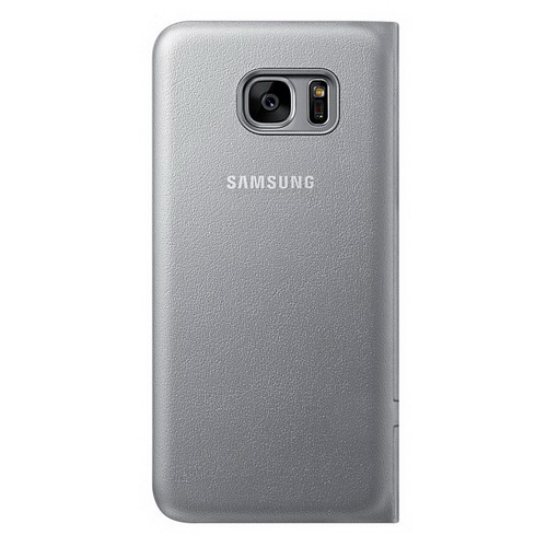 Чехол-книжка Samsung LED View Cover серый, для Galaxy S7 Edge