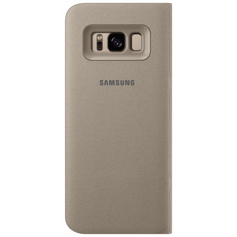 Чехол-книжка Samsung LED View Cover золотой, для Galaxy S8 Plus