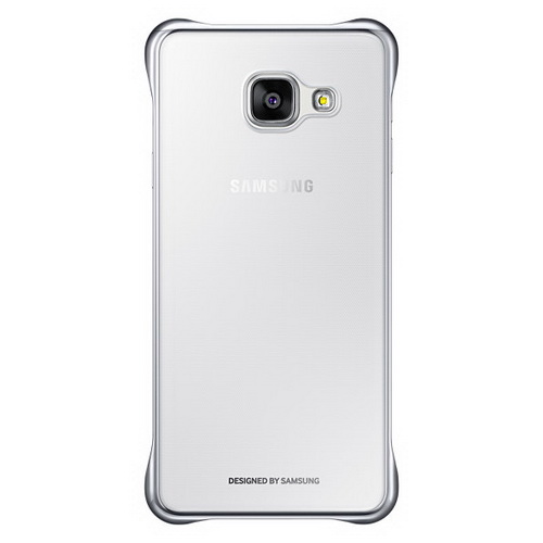 Чехол Samsung Clear Cover серебристый, для Galaxy A3 (2016)