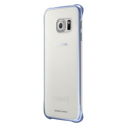 Чехол Samsung Clear Cover для Galaxy S6 Edge Plus черный