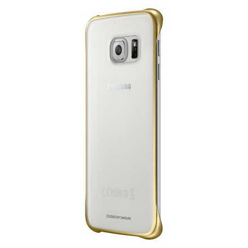 Чехол Samsung Clear Cover для Galaxy S6 Edge Plus золотой