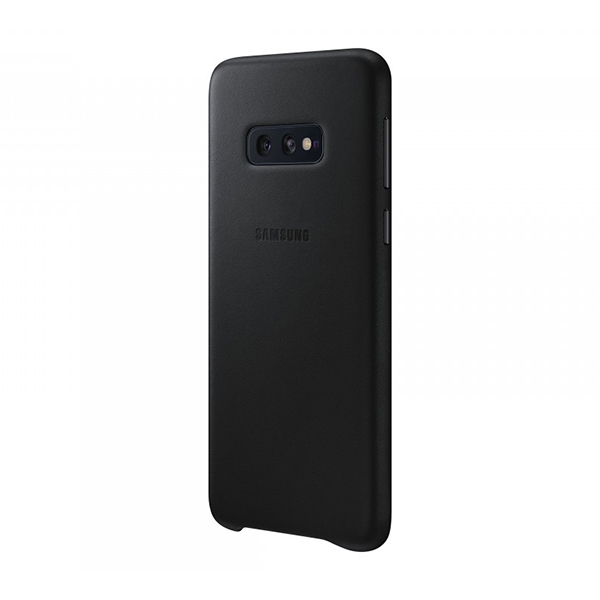 Чехол Samsung Leather Cover для Galaxy S10e черный, кожа фото