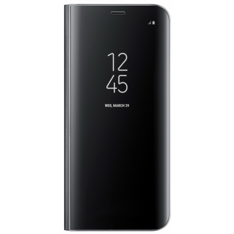 Чехол-книжка Samsung Clear View Standing Cover черный, для Galaxy S8